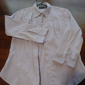 Lavender button down 3/4 sleeve